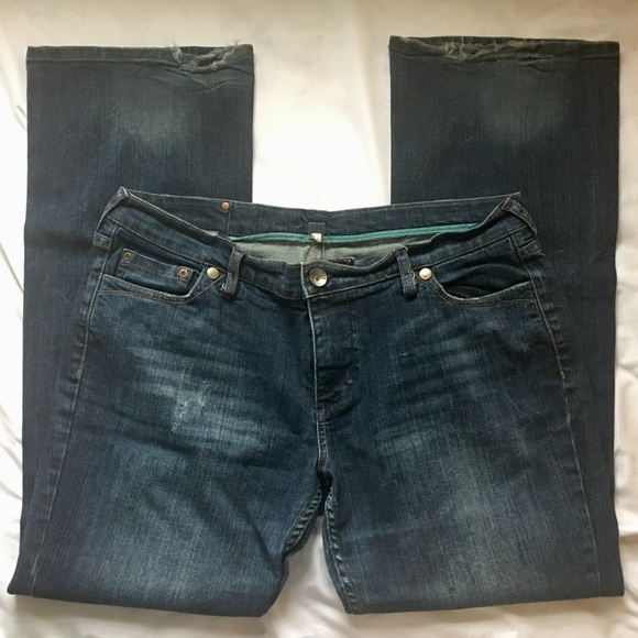 Mossimo Supply Co. Denim - Vintage Mossimo Distressed Bootcut Jeans